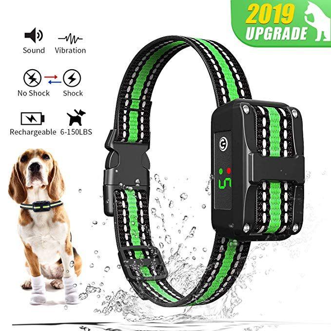 Sporus Dog Bark Collar With 5 Adjustable Sensitivity And Intensity