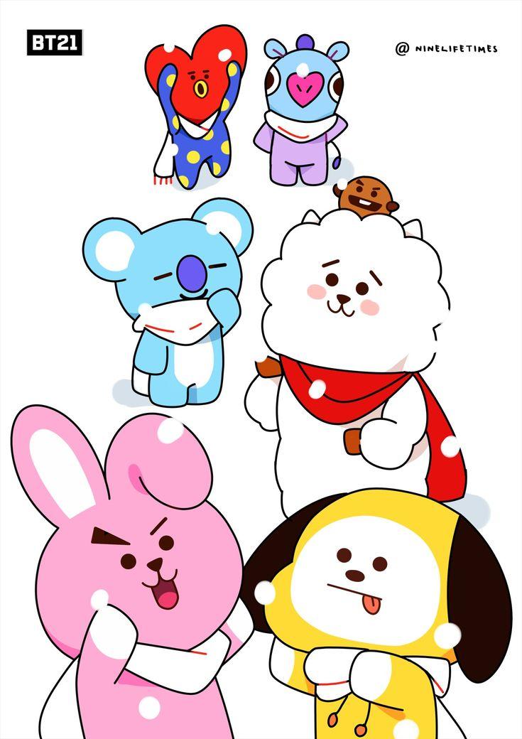 Bt21 Fanart ♡ Wallpaper Lucu Kartun Lucu