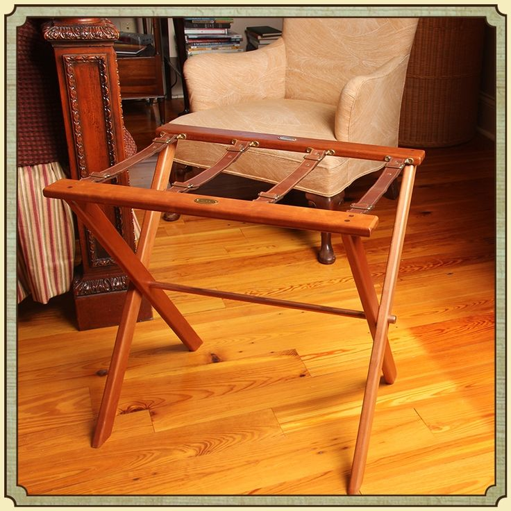 Wood Campaign Luggage Stand | Best U0026 USA Made | Col. Littleton