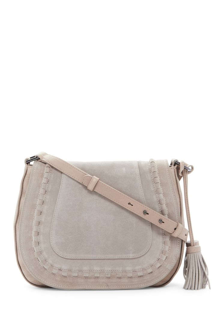 Edena Leather & Suede Saddle Crossbody