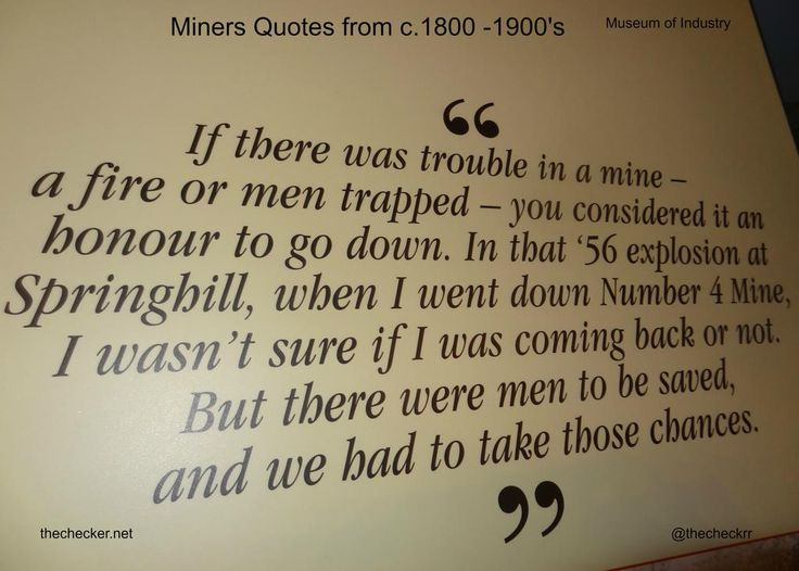 If there was trouble in a mine ... Embedded image permalink