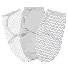 SwaddleMe 3Pack Grey Chevron and Stars Small  SwaddleMe is thinner than the HALO sleep sacks so this might fit a skinnier baby better.