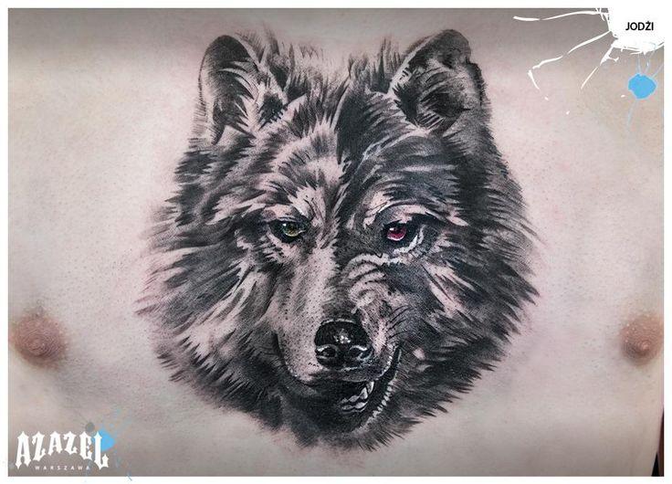 Wolf on my chest made by Jodzi @ Azazel Warsaw