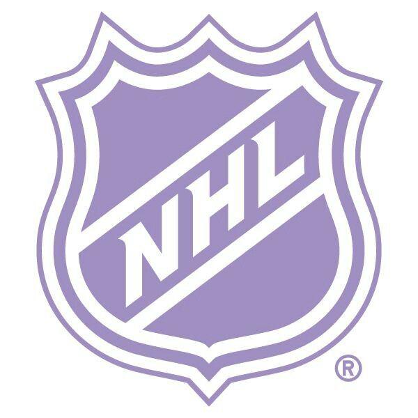 Hockey fights cancer purple NHL logo