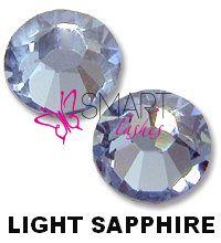 Kamienky na 3d mihalnice - Light Sapphire - SS6 - 25 ks