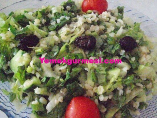 Bulgurlu Yeşil Salata | Resimli Yemek Tarifleri, Nefis Yemek Tarifleri, Yaş Pasta Tarifleri