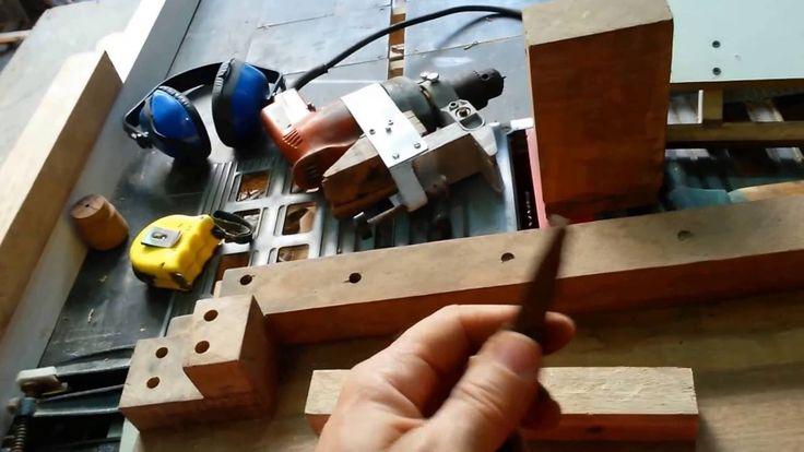 Como fazer um Torno para Madeiras, fácil - How to make a Lathe for Woods...