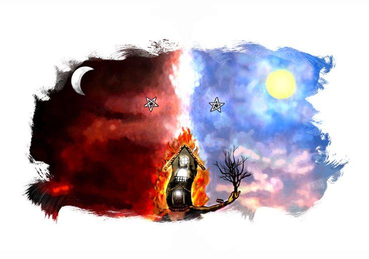 """Edición para el video-promo de """"The Burning Santuary"""" #hernanergueta #ilustracion #cuentos"""