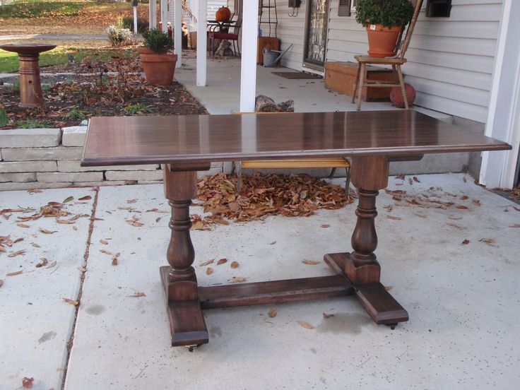 Hickory Trestle Table By Kirchhoff Tables Using Osborne Dining Table Legs