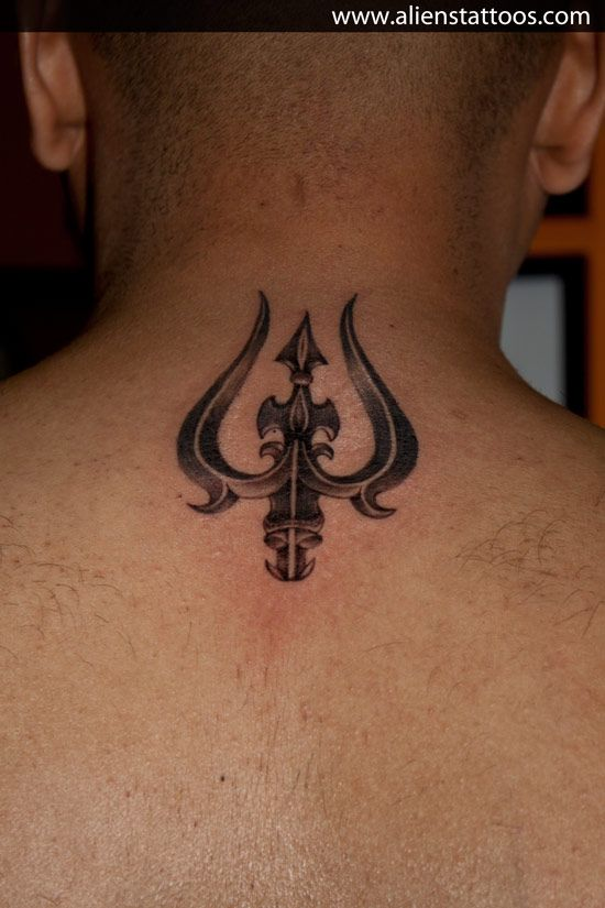 Trishul Tattoo, Designed and Inked by Sunny at Aliens Tattoo, Mumbai