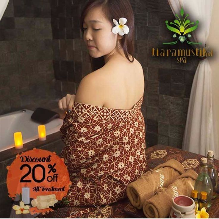 """[Tiara """"Mustika Ratu"""" Spa Promo]  Diskon 20% semua item setiap hari  Massage is thought to be the oldest form of medical therapy practiced on the human body. Through our tradisional Javanese Massage and body treatment that using natural herbs are inspired by strong commitment to soothe every wish people seeking a peace of mind Comfortable Beauty salon Fresh Facial room and our well trained masseurs giving an unforgettable experience of uniqueness.   Setiap Hari  Category: Spa & Massage…"""