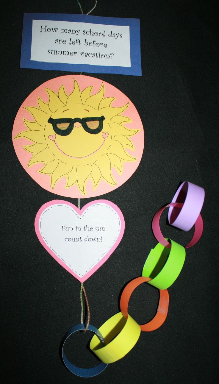 How many days left before vacation?  Paper chain countdown that covers lots of math skills. FREE