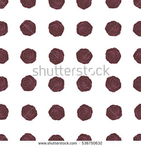 Seamless background in pink and brown roses. Vector seamless background with colored spots.