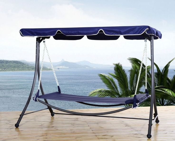 Metal Swing Seat Hammock Bed Rain Shelter Canopy Pillow Garden Patio  Furniture | Rain Shelter And Canopy