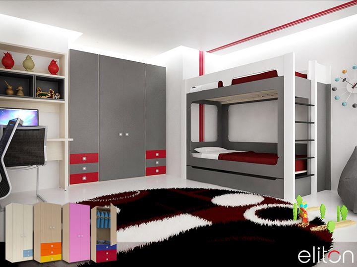 Οι παιδικές ντουλάπες UNO είναι σχεδιασμένες για να συνδυάζονται με τα κρεβάτια και τις συνθέσεις #ELITON! Παρέχουν πολλές επιλογές διαμόρφωσης του εσωτερικού ενώ υπάρχει η δυνατότητα συνδυασμού πορτών και συρταριών για βελτιστοποίηση της χωρητικότητας.    Δείτε τις προτάσεις μας για παιδικό δωμάτιο στα καταστήματά μας στην Γλυφάδα και στον Γέρακα! Κλείστε ραντεβού: 210 5578067-7.