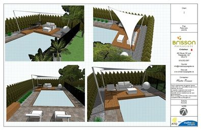 Terrasse mondrian and design on pinterest for Amenagement exterieur 3d