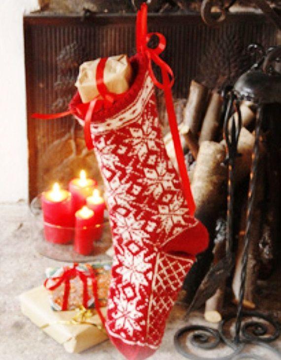 For 2016 Santa socks Christmas socks Knitted by WoolMagicShop