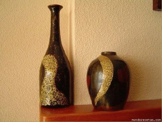 Altered Art Bottles Egg Shells