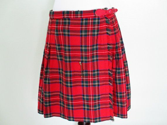 Vintage Only the Most Awesome Red Tartan Plaid by ChinaCatVintage