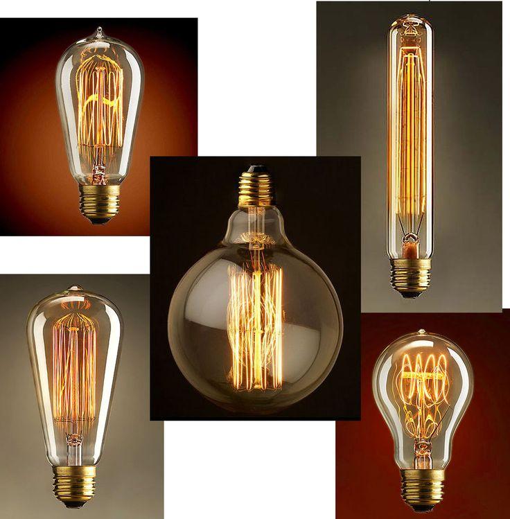 Ampoule Décorative à Filament Vis E27 Décoration Vintage Design Industriel  NEUF In Maison, Luminaires,