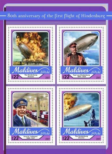 MLD17108a 80th anniversary of the first flight of Hindenburg (The Hindenburg disaster; Paul von Hindenburg (1847–1934); Ernst A. Lehmann (1886–1937))