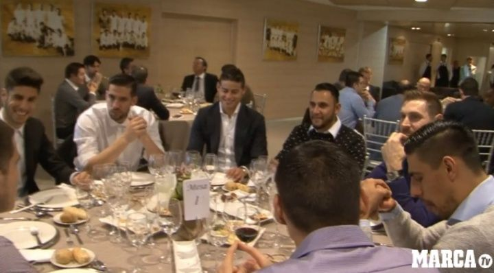 As is traditional Real Madrid have ended the calendar year with a Christmas meal at the Estadio Santiago Bernabeu after  Source