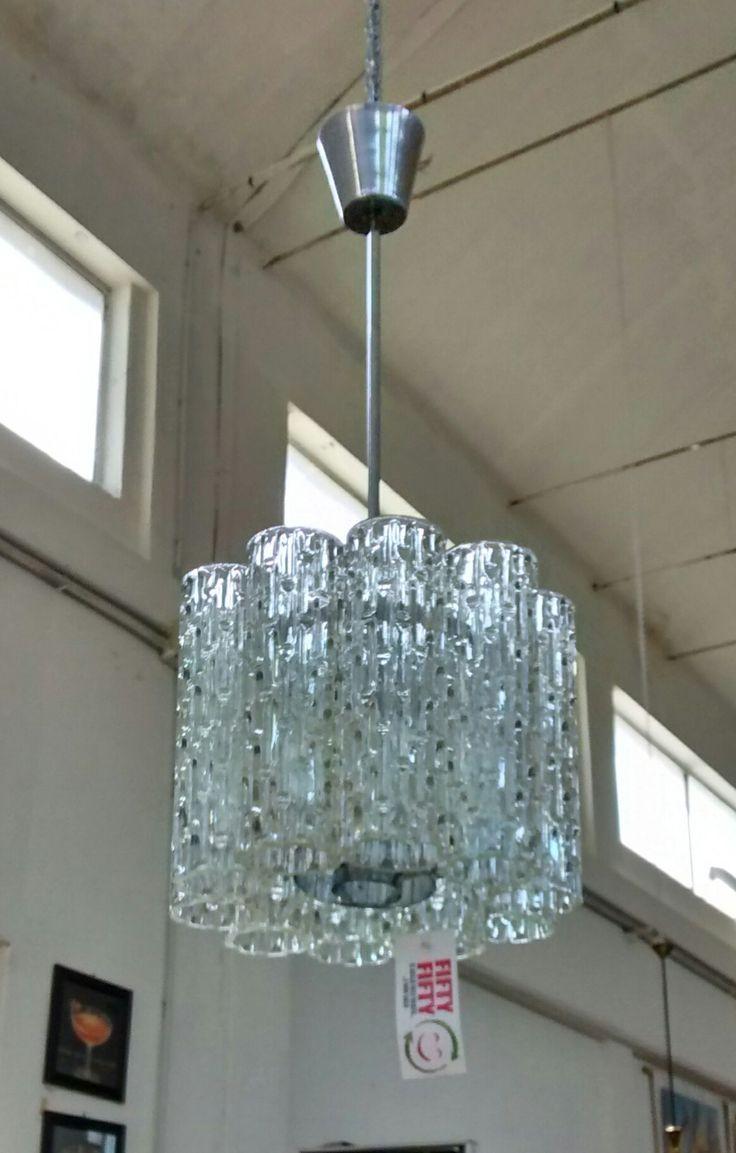 Lampadario anni '40 con canne di vetro di Murano  #vintage #illuminazione #style