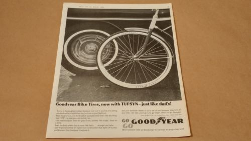 Vintage-1964-Goodyear-Bicycle-Tires-Print-Ad-March-Boys-Life-Magazine-RARE