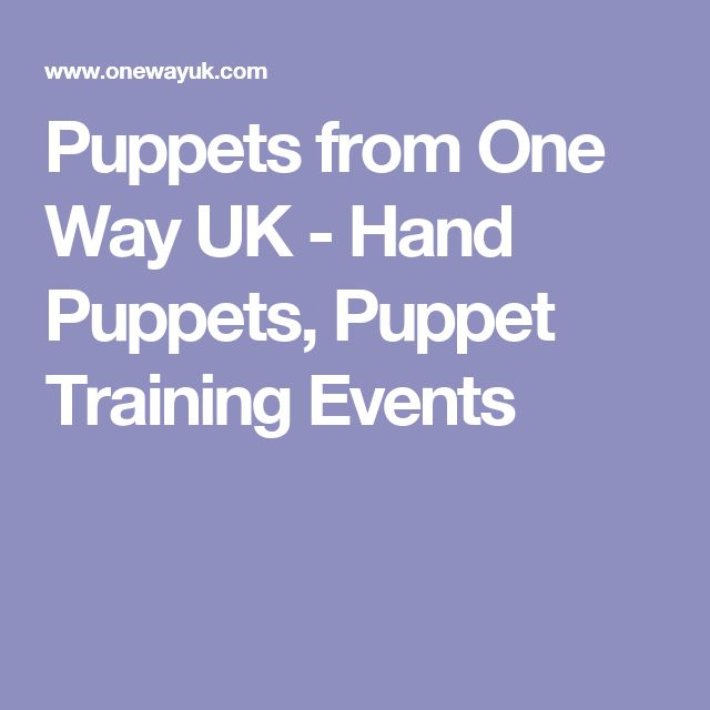 Puppets from One Way UK - Hand Puppets, Puppet Training Events