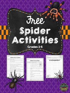 Spiders!  Here are a few free spider activities to supplement any spider lesson or just to have fun with when you need to fill up some time! The 3 worksheets include:  How Many Words Can You Make From Arachnophobia?  Spiders: True or False?  Spiders: Fact or Opinion?  Thanks for looking!  bugs fact and opinion Halloween Spiders
