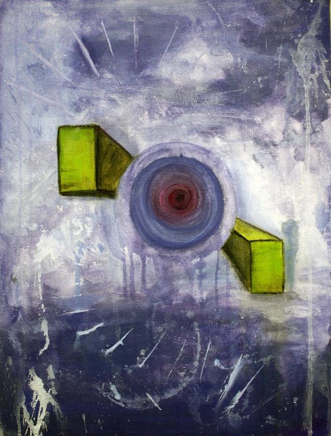 Peinture réalisée à l'automne 2012 par Félix Tremblay, étudiant de première année.