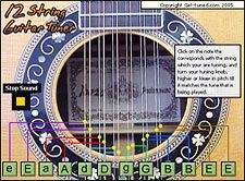 12-String Guitar Tuner - Online 12 string guitar tuner so you can tune a 12 string guitar easily and quickly in standard tuning.