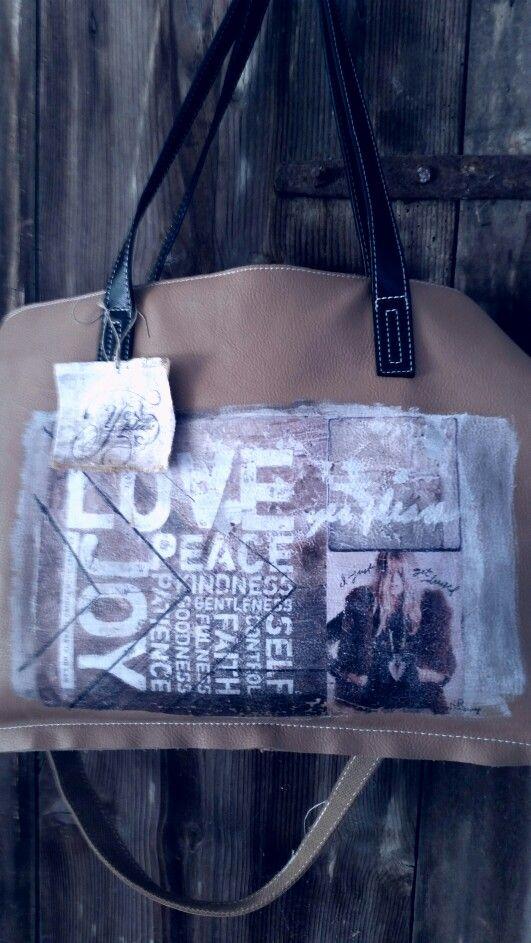 Bag handpainted ☆ RR ☆ Yes Please by Rossana Rubino