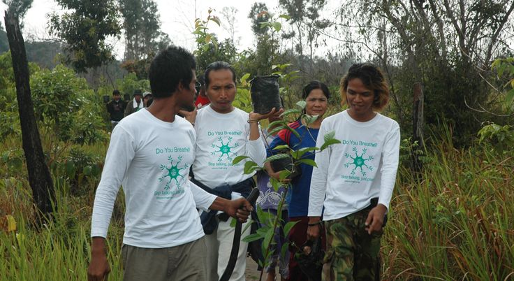 Awesome eco-warriors: Bali-based NGO Friends of National Parks led by founder Dr Bayu Wirayudha (pictured center) planting trees as part of their work. This links to a Be Movement profile of Dr Bayu's work.