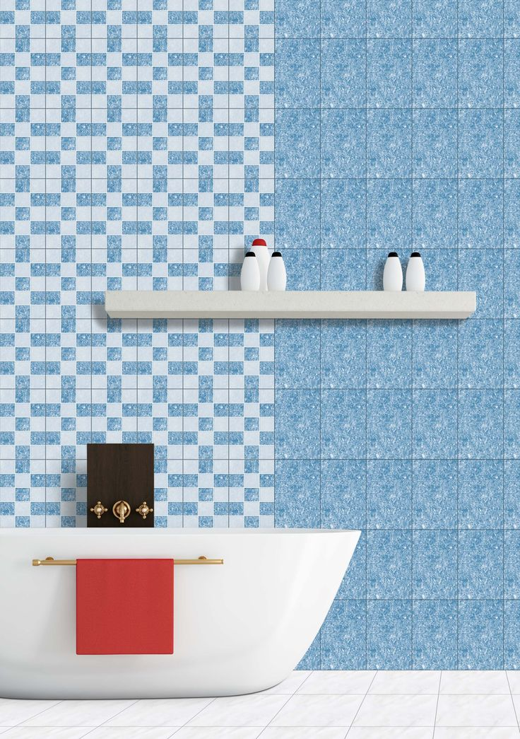 deep mosaic aqua bath room tiles