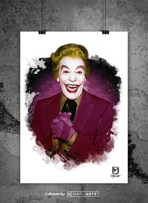 Joker Cesar Romero Batman Artwork Handmade Printable Art