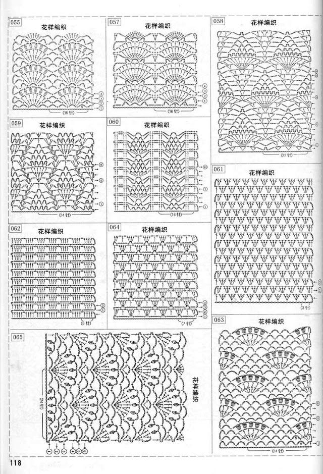 East Asian (Chinese or Japanese) charted designs
