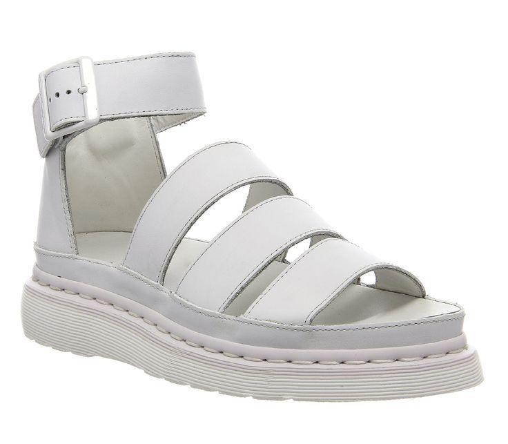 Dr. Martens shore clarissa chunky strap sandal White Mono Leather - Sandalen