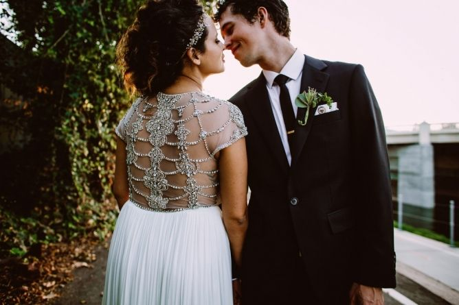 Custom Black Wedding Suit - Made to Measure for your special occasion  Get inspired for your wedding at http://caratsandcake.com/jessandnate