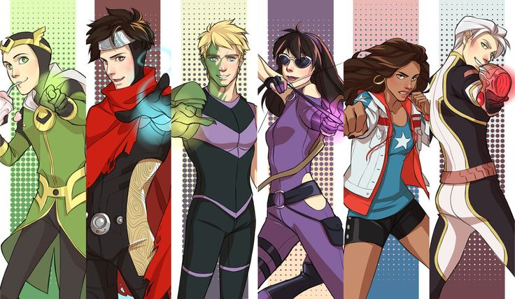 Kids These Days by dorodraws.deviantart.com on @DeviantArt. These are the Avengers kids! SWEET!