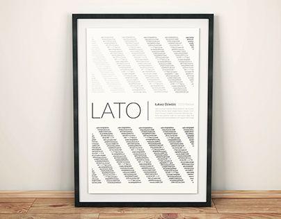 "Check out new work on my @Behance portfolio: ""Plakat fontu ""Lato"""" http://be.net/gallery/41890129/Plakat-fontu-Lato"