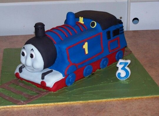 I made this cake for my Son Kobe for his 3rd birthday party. January 2010.. He loved Thomas the tank at the time..  Cake, made by Sammi..