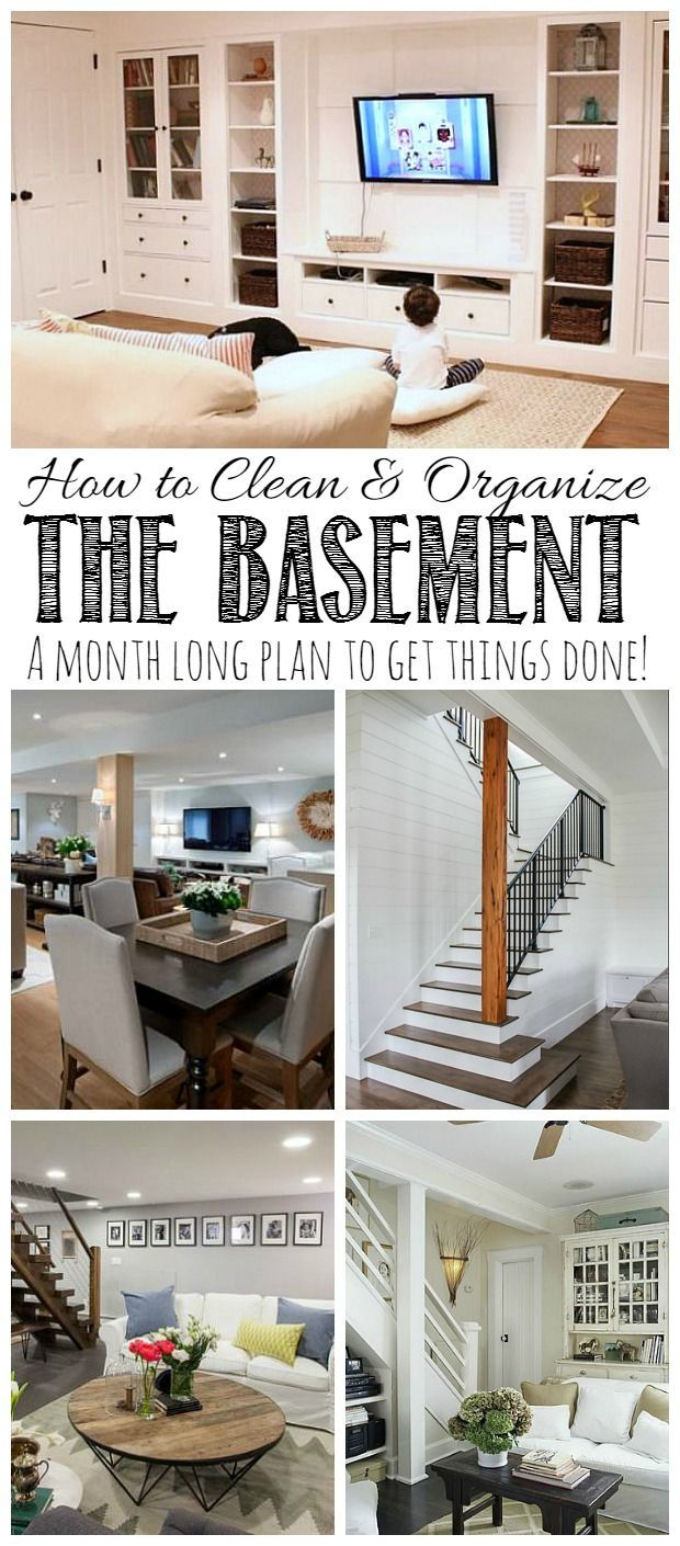 Everything you need to get your basement cleaned and organized!  Includes lots of tips and free printables!