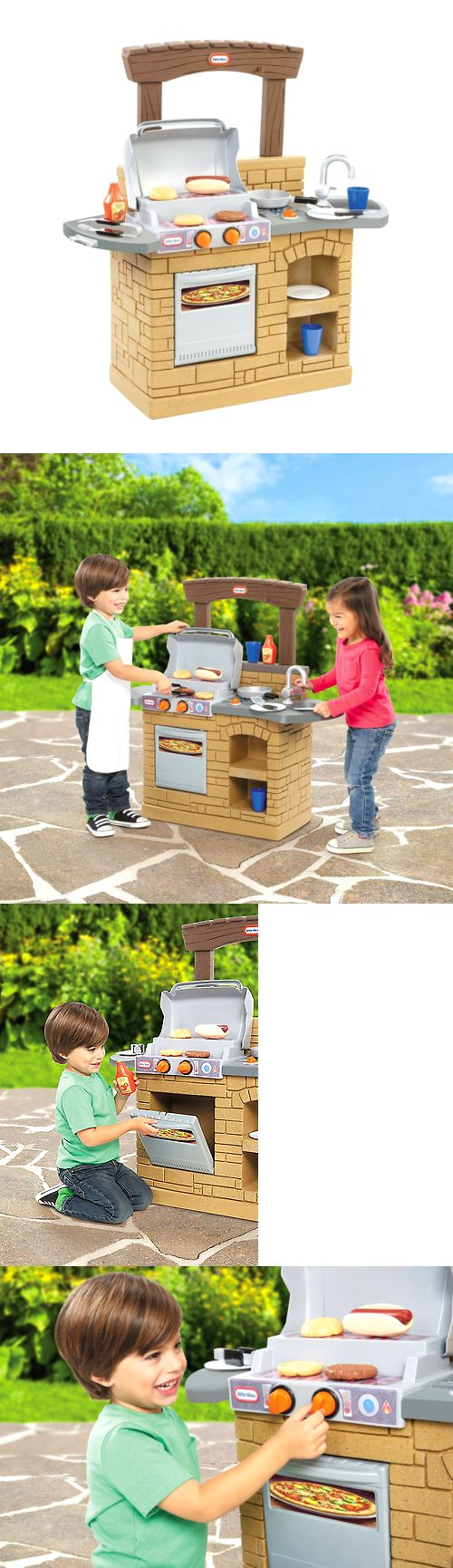 Child Size 2574: Little Tikes Cook Play Outdoor Bbq Kitchen Toys For Kids Grill Make Fun Sounds! -> BUY IT NOW ONLY: $63.24 on eBay!