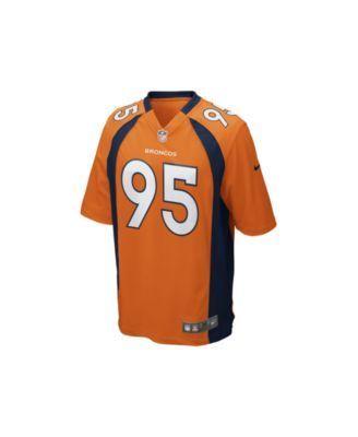 Nike Men's Derek Wolfe Denver Broncos Game Jersey - Orange M