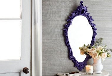 Love the purple framed mirror