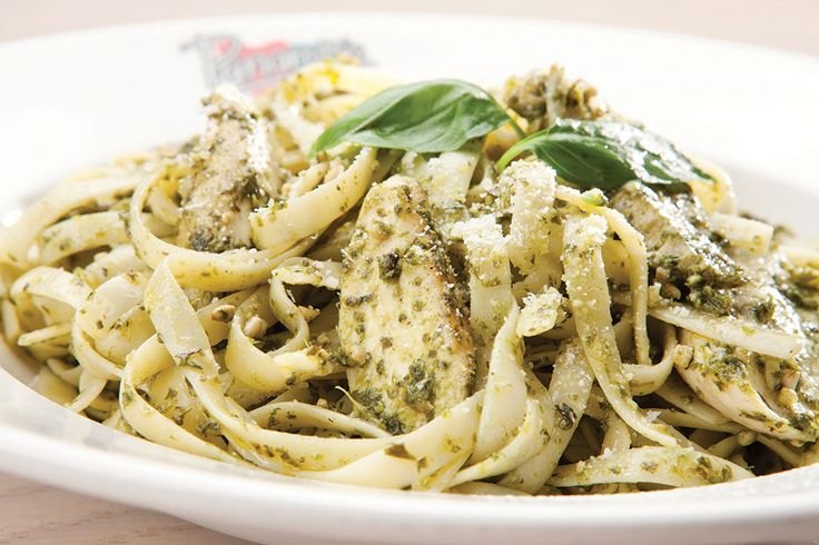 Chicken Pesto. Your choice of pasta  and roast chicken  strips, tossed in basil pesto and garlic, topped with parmesan cheese | Panarottis http://www.panarottis.co.za/ourmenu/pastas