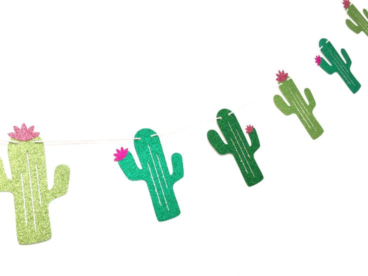 Cactus Banner -Glitter Cactus Party Banner - Cactus Decor, Taco Tuesday, Mexican Party Decorations, Cactus Party, Taco Party Supplies by CloverandBloomCo on Etsy https://www.etsy.com/listing/474983538/cactus-banner-glitter-cactus-party