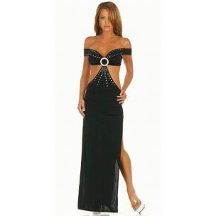 Uzun Boydan Elbise: Products Fashion Dresses Sexy, Shoulder Gowns, Dresses Sexy Gowns, Shoulder Cutout, Open Shoulder, Cutout Waist, Sexy Lingerie, Black Silk, Open Side