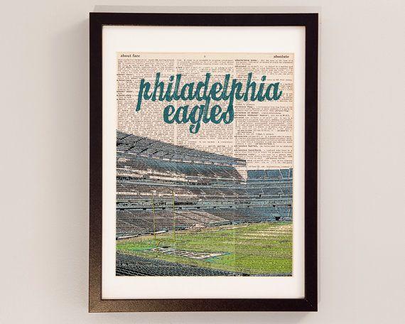 Philadelphia Eagles Dictionary Art Print - Lincoln Financial Field - Football Art, Philadelphia, Eagles Stadium, Philly, Gift for Him